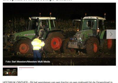 Người lái máy kéo bị thương do dây thừng